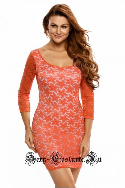 Красное платье клубное рисунок d21466
