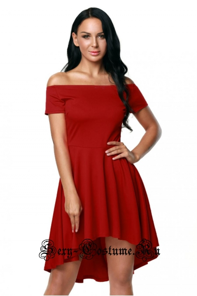 Красное платье клубное голые плечи d61346