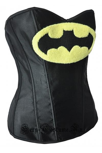Корсет черный супер-девушка бэтмен m14640