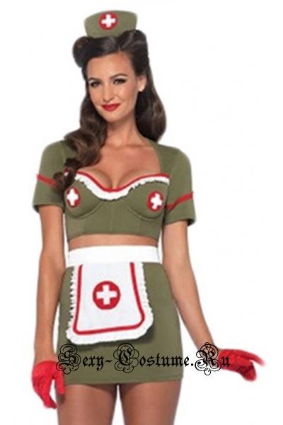 Зелёная медсестра-военнный леди p40347