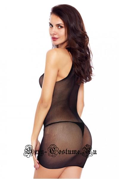 Капроновое платье черное китайское китай n310682