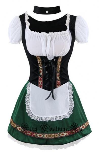 Баварочка зеленое чудолеприкон в платье m15694