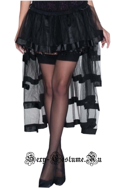 Черная юбка для кан-кана m10582