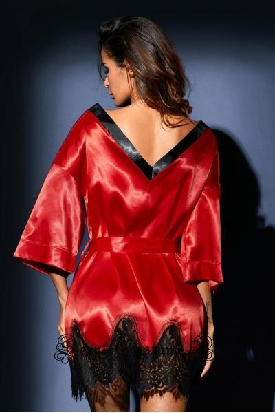 Халатик красный с черным d31097-3