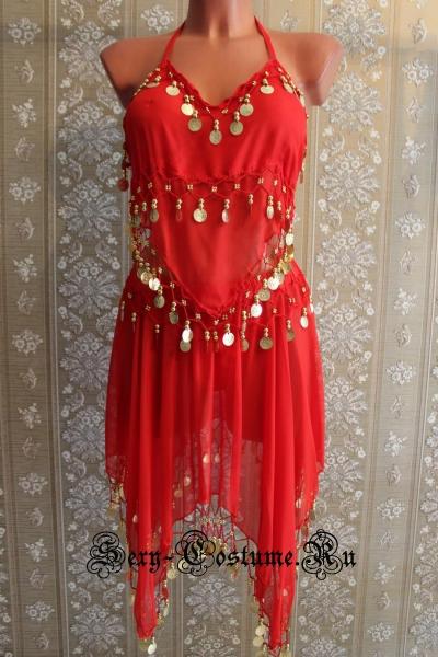 Восточная танцовщица красная китай lu1145-1