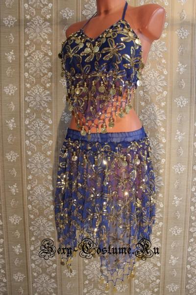 Восточная танцовщица ярко-синяя китай lu800-5