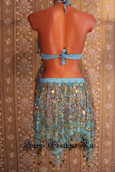 Восточная танцовщица светло-синяя китай lu800-6