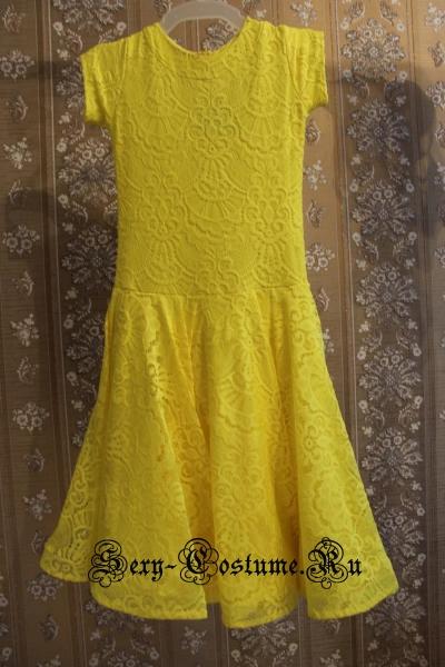 Платье рейтинговое с ригилином рост 128-134см Россия пр1.1р желтый