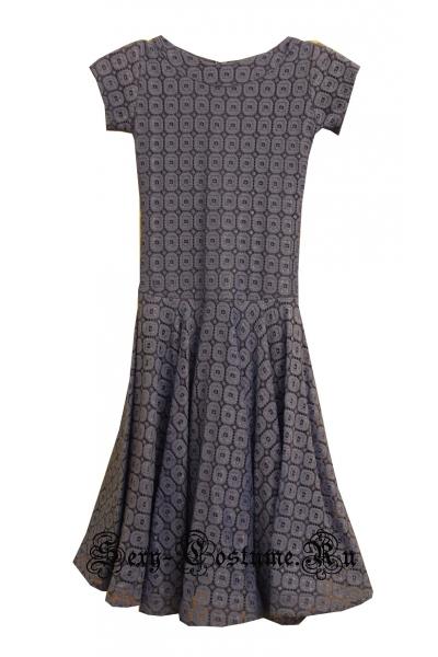 Платье рейтинговое нейтрально синее с ригилином рост 128-134см пр1.1р синий2