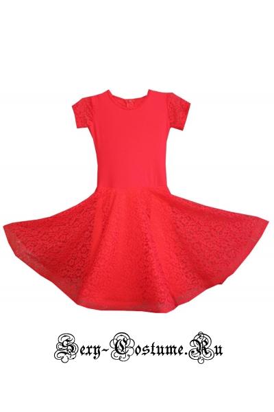 Платье рейтинговое коралловые рост 122-128см пр7.1 коралловый