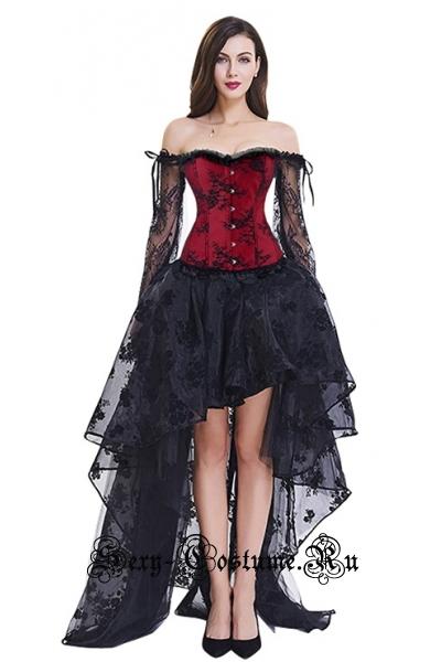 Красная принцессакорсетный костюм леди m15391