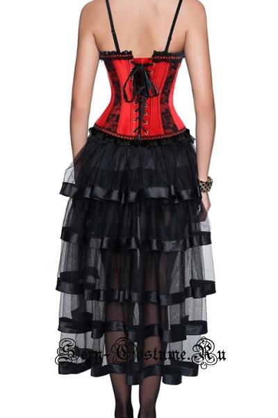 Красная принцессакорсетный костюм прелесть m12258