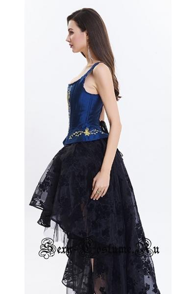 Принцесса ариэль корсет синий + юбочка m14125