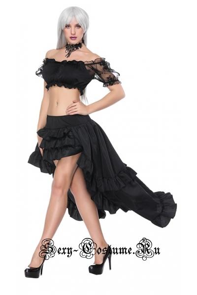 Принцесса готовчерное платье m16239
