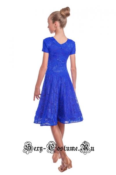 Платье синее рейтинговое с ригилином рост 116-122см Россия пр1.1р синий