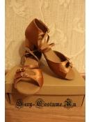 Туфли для бальных танцев девочка сатин-кожа 35 размер