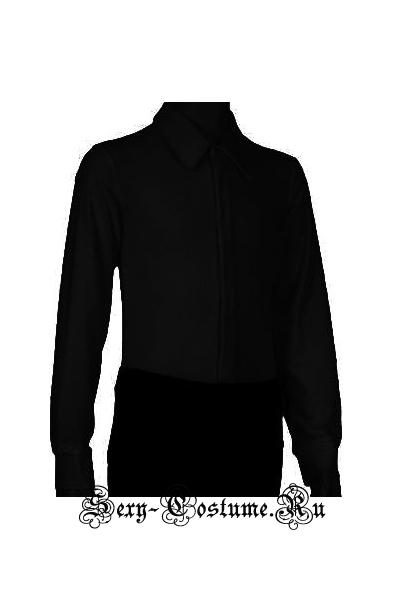 Рубашка-боди черная на молнии для бальных танцев мальчик pm2.1