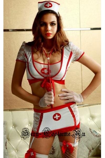 Медсестра + чулки + стетоскоп