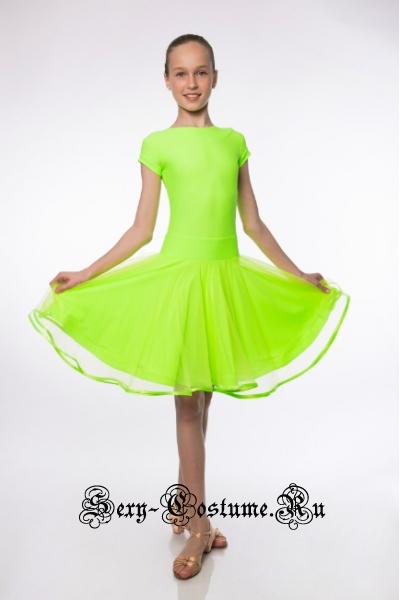 Платье салатовое рейтинговое рост 134-140см Россия пр12.1 салатовый