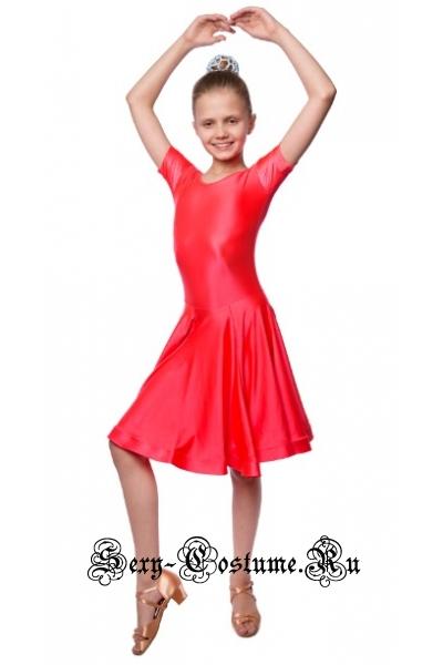 Платье рейтинговое красное юбка гадэ рост 116-122см Россия пр19.1 красный