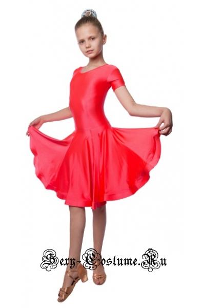 Платье красное рейтинговое юбка гадэ рост 128-134см Россия пр19.1 красный