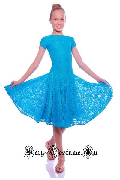 Платье рейтинговое с ригилином рост 116-122см Россия пр1.1р голубой