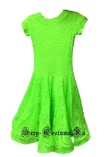 Платье рейтинговое с ригилином светло-зеленый рост 122-128см Россия пр1.1р салатовый
