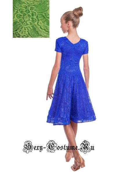 Платье рейтинговое с ригилином светло-зеленый рост 134-140см Россия пр1.1р салатовый