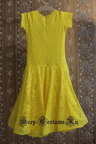 Платье рейтинговое с ригилином рост 116-122см Россия пр1.1р желтый