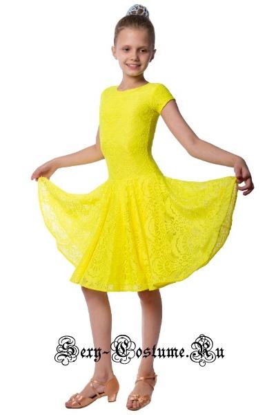Желтое платье рейтинговое с ригилином рост 134-140см Россия пр1.1р желтый