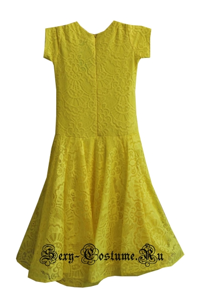 Платье рейтинговое с ригилином желтое рост 122-128см Россия пр1.1р желтый