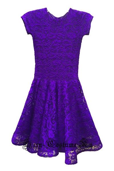 Фиолетовое платье рейтинговое с ригилином рост 122-128см Россия пр1.1р фиолетовый