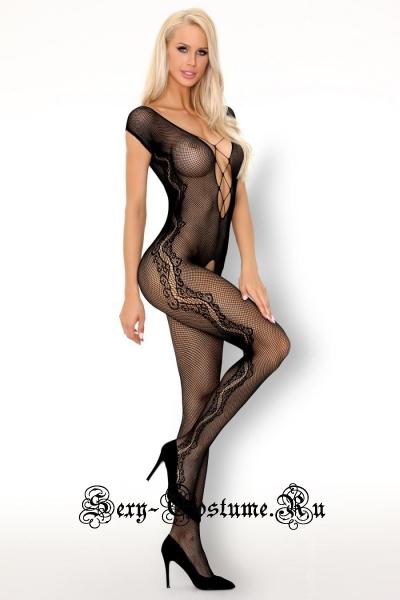 Капроновый комбинезон черная пантера livia corsetti moritana