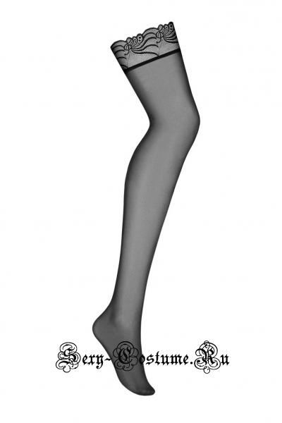Чулки черные obsessive 828 stockings