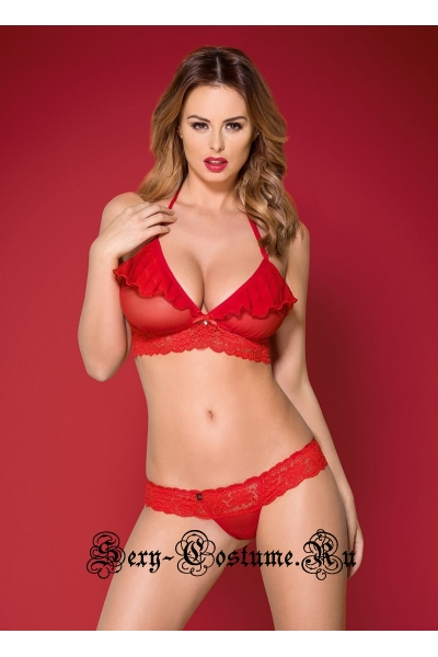 Комплект красный obsessive 863 set-3