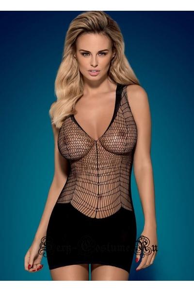 Капроновое платье черное obsessive d 603 dress