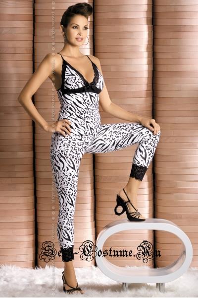 Комбинезон зебра для стильной дамы obsessive zebra top