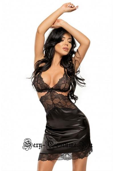Сорочка черная beauty night adelaide