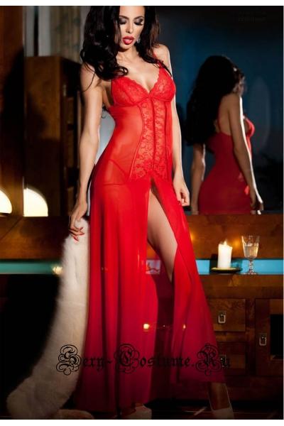 Сорочка длинная красная chilirose cl3470 red
