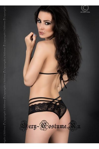 Комплект черный домашне-сексуальный chilirose cl3786 set black
