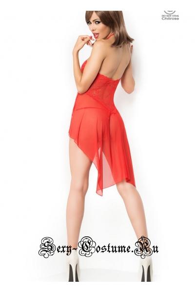 Сорочка красная мягкой ткани chilirose cl3884 babydoll