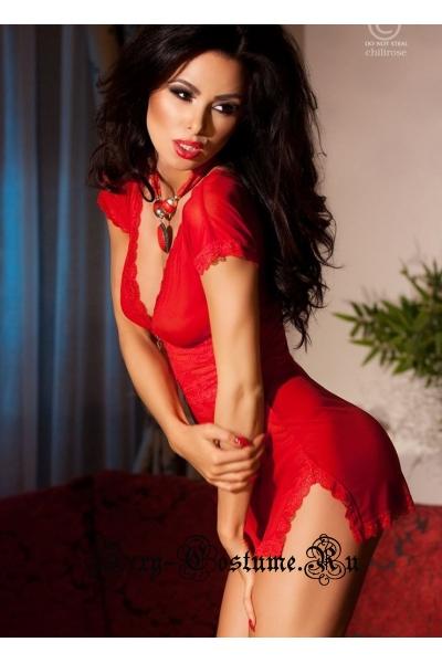 Сорочка красная chilirose cl4009 red