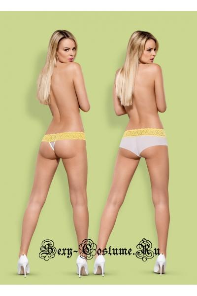 Трусики (2 шт. в упак.) желтый obsessive lacea shorties & thong