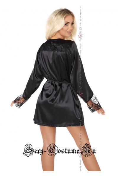 Классический пеньюар черный хороший выбор beauty night fabienne
