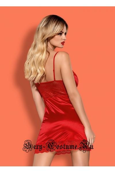 Сорочка красная obsessive lovica chemise красный