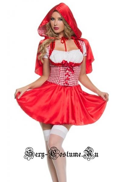 Красная шапочка красно-белая красотка w1724
