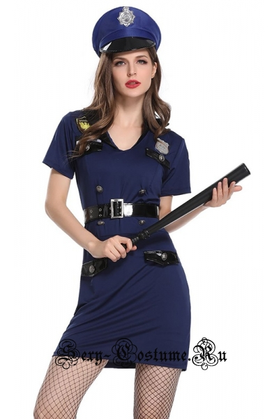 Полицейский синий коп w1881
