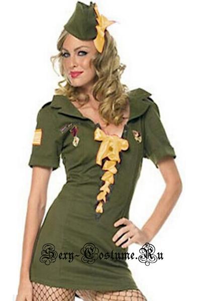 Симпатичная девушка солдат военный w9278