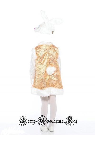Белый заинька лапушка для девочки батик д1204