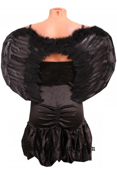 Черный ангел?черное платье уценка ан14-1